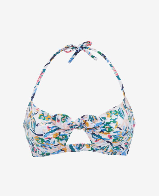 Concealed underwired strapless bikini top Multicolour Kif kif