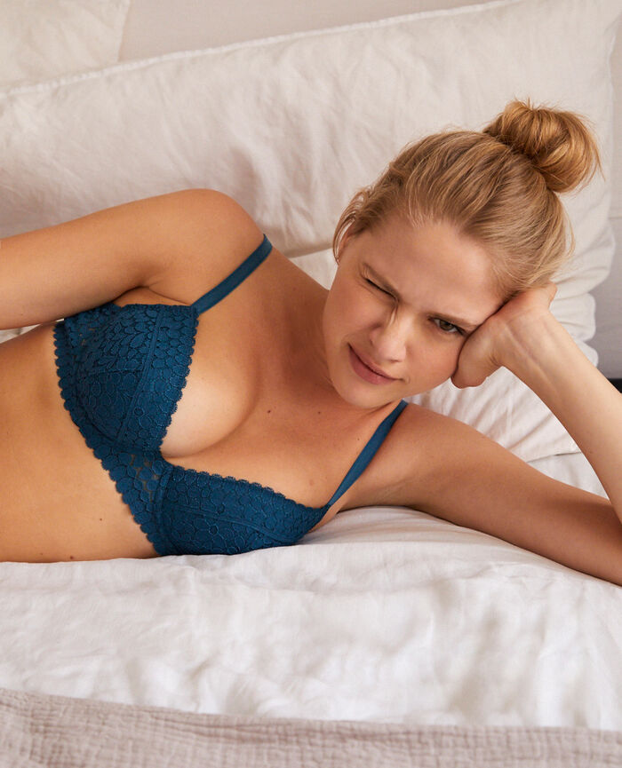 Padded push-up bra Jazz blue Monica