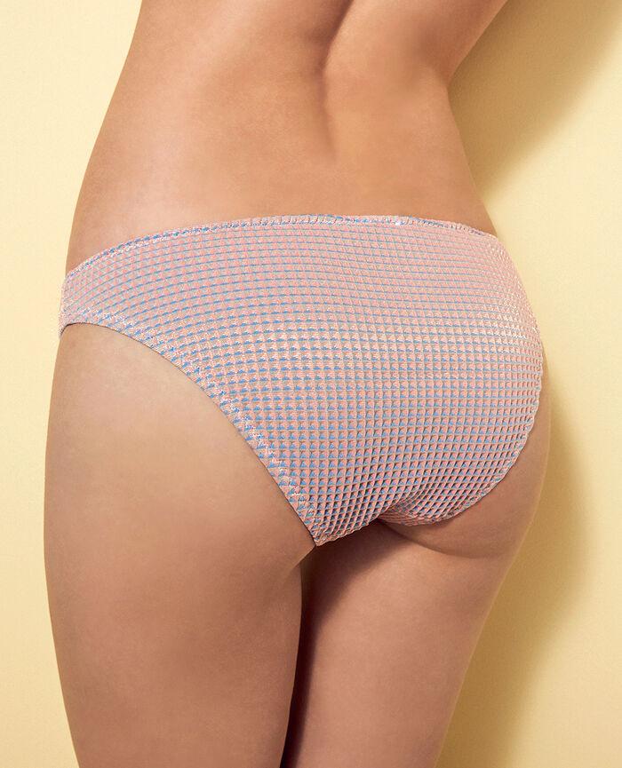 High-cut bikini briefs Funky pink Pepita