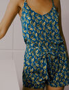 Short de pyjama Ficus bleu sombrero Tam tam shaker