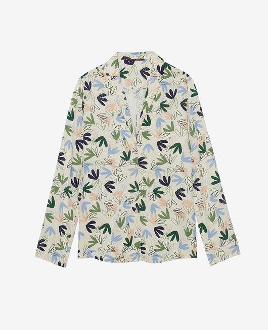 Pyjama jacket Matisse pink white Attitude imprime