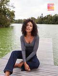 Top manches longues Gris anthracite Heattech© lovely