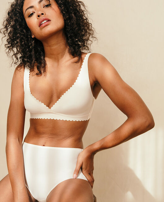 High-waisted briefs Rose white Secret