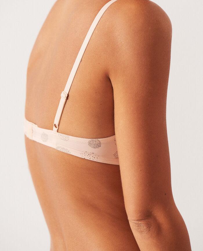 Wireless bra Powder beige relief Take away