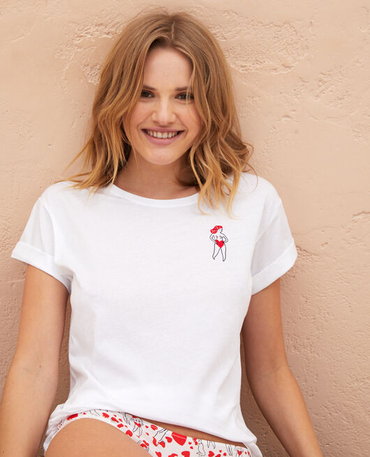 Short-sleeved t-shirt Agathe white A la folie