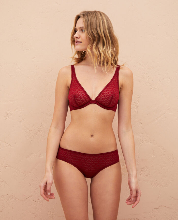 Underwired triangle bra Henne brown Encens