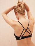 Mini-wire triangle bikini top Black Tiwizi