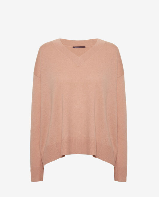V-neck jumper Pink pomegranate Icone