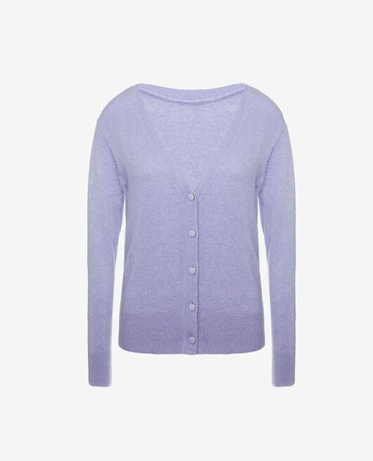 Cardigan manches longues Violet fantaisie Sweet