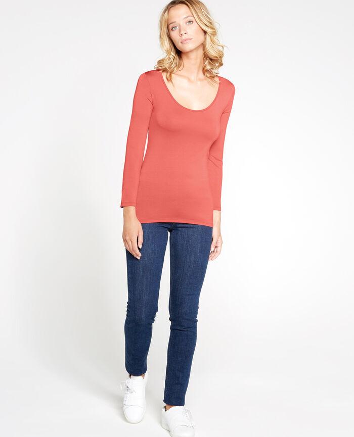Top manches 7/8ème Rose cuit Innerwear