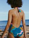 Swimsuit halterneck Boho aqua green Impala color