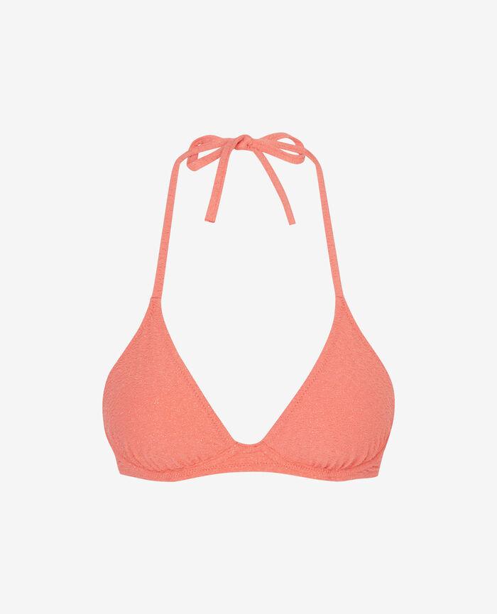 Mini-wire triangle bikini top Funky pink Makeda