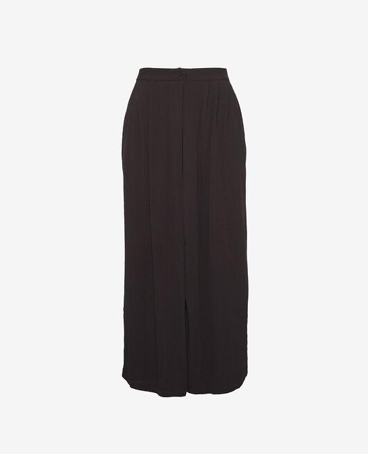 Gaucho pants Black Crepe viscose