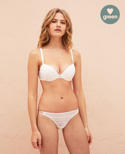 Soutien-gorge push-up mousses Blanc rosé Atlas