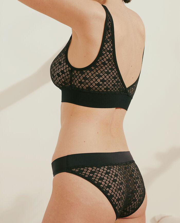 Soft bustier bra Black Demain - loungerie