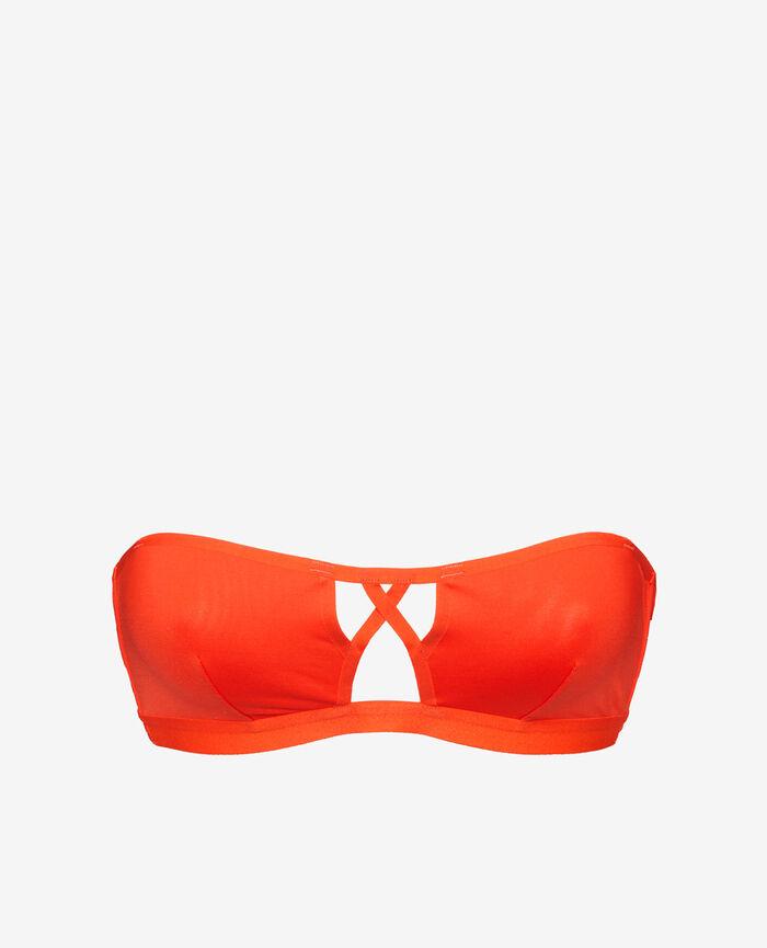 Maillot de bain bandeau sans armatures Orange sanguine Tiwizi