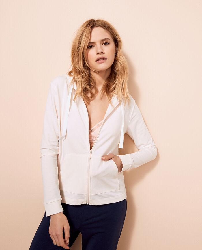 Veste à capuche molleton Blanc rosé Air loungewear