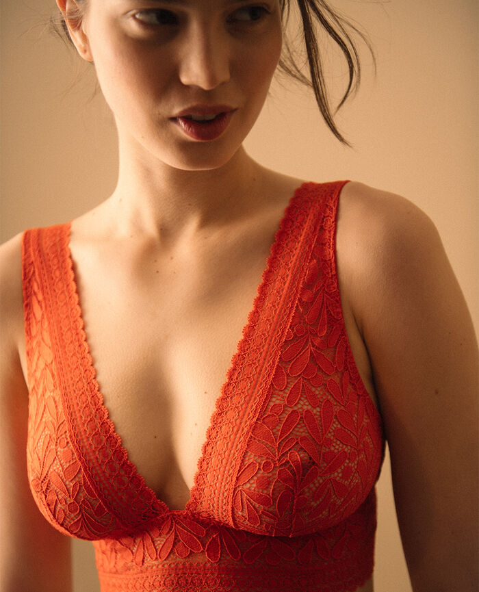 Soft bustier bra Spicy orange Evidence - the take it easy