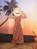 Maxi dress Scarf brown Vacanze