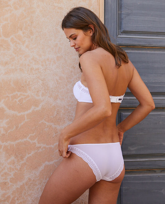 Culotte taille basse Blanc Duo