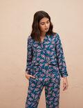 Veste de pyjama Orient vert Bahia