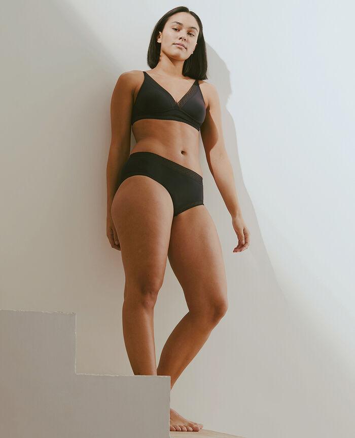 Culotte taille haute Noir Infiniment