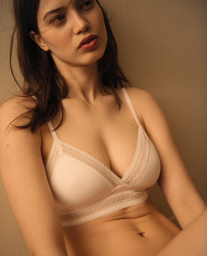 Wireless padde bra Rose white Eclat - the be cool