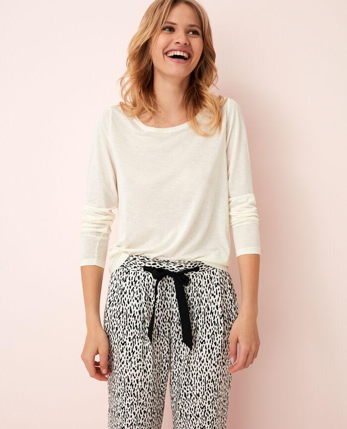 Long-sleeved t-shirt Ivoiry Latte