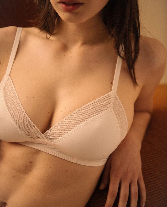 Soutien-gorge sans armatures padde Blanc rosé Infiniment - le be cool