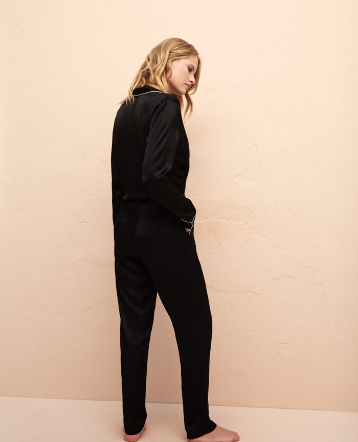 Pantalon de pyjama Noir Subtil