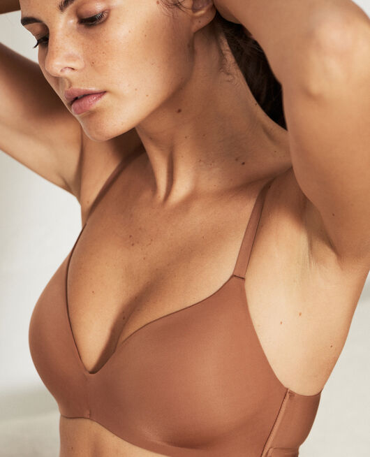 Soutien-gorge triangle moulé sans armatures Brun muscade Secret