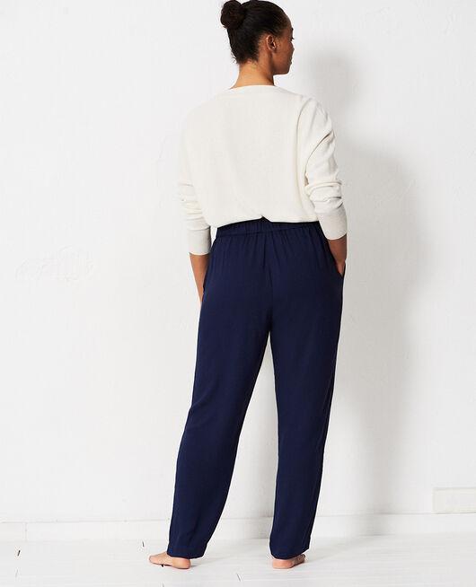 Pantalon carotte Bleu marine Pimpant