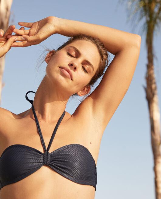 Padded strapless bikini top Midnight blue Reve