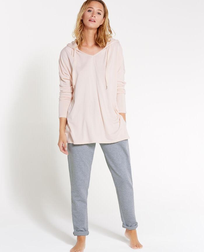 Sweatshirt with hoodie Quartz beige Loungewear