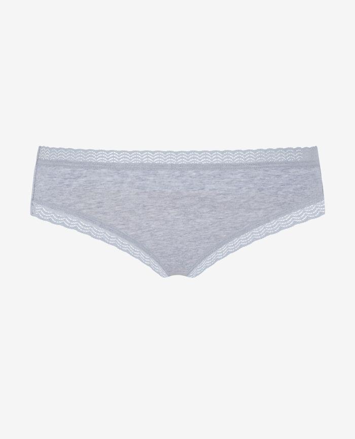 Culotte taille basse Gris chiné Basics