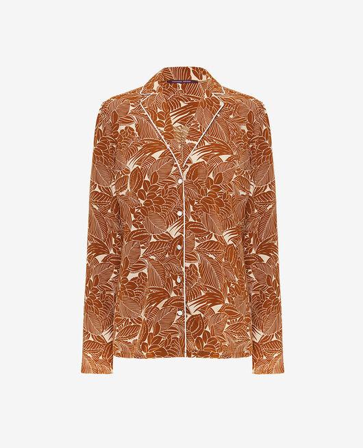 Veste de pyjama Botanic bronze Fresque