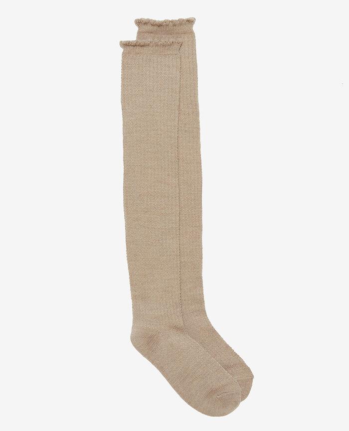 Leg warmers Flecked beige Ballet