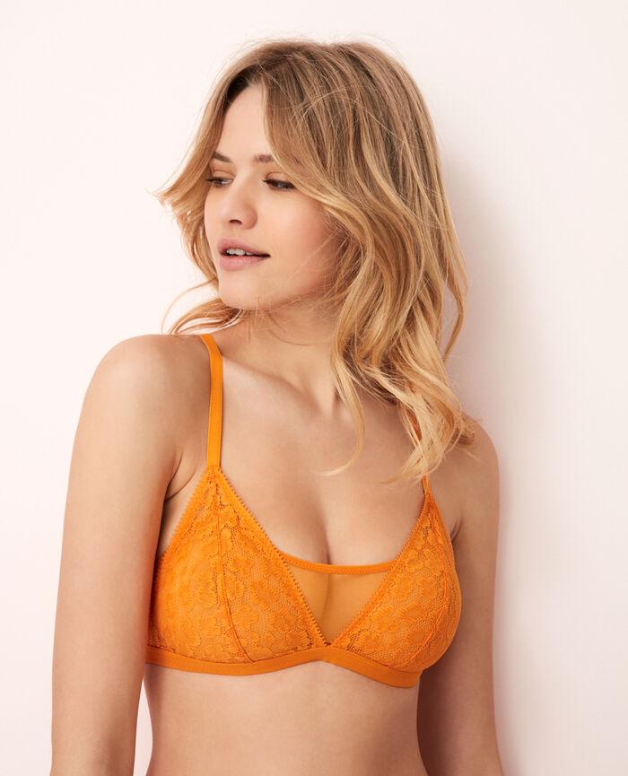 Soft cup bra Maya orange Azteque