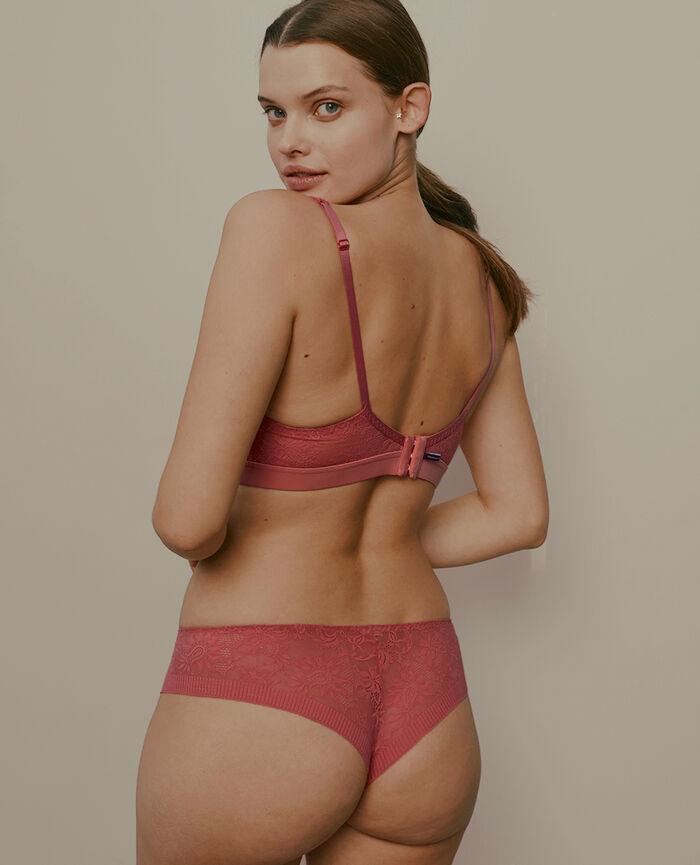 Soft cup bra Cherry pink Audacieusement - the feel good