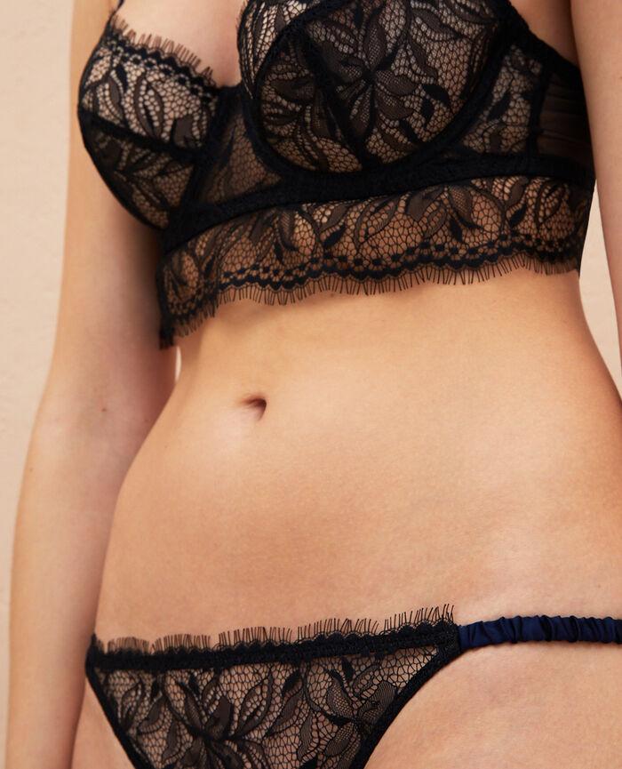 Culotte taille basse Noir Epice