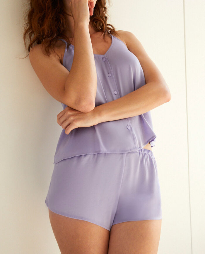 Short de pyjama Violet fantaisie Minuit