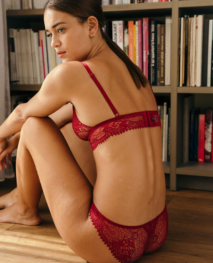 Soft cup bra Camelia red Chic