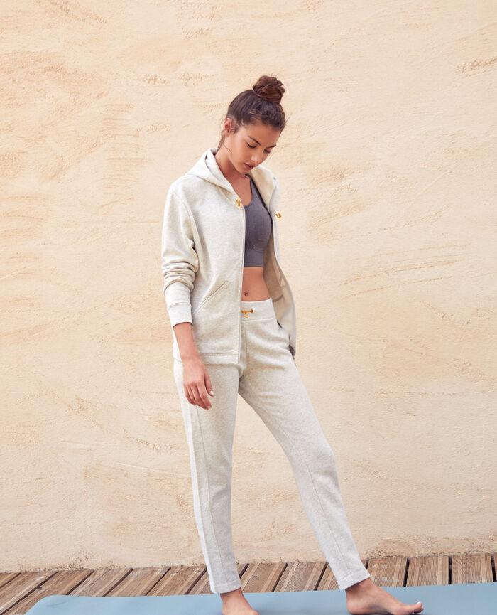 Pantalon de sport Gris chiné Yoga