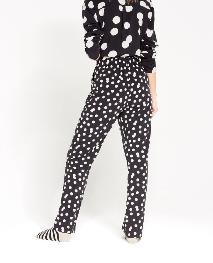 Pantalon Noir pois Love is all