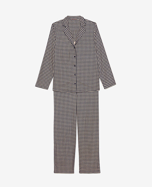 Pyjama set Navy houndstooth Dodo