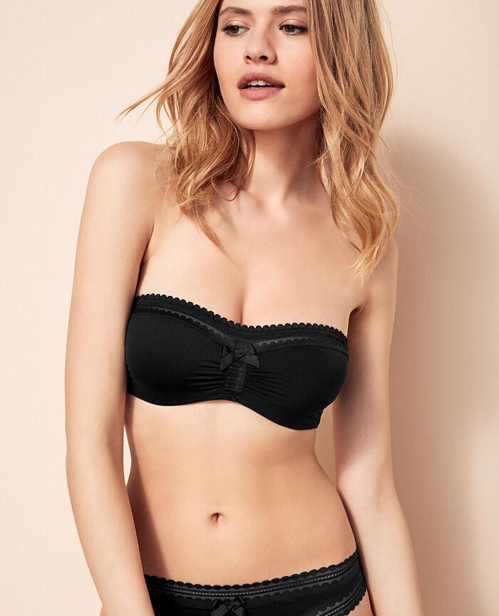 Strapless bra Black Beaute