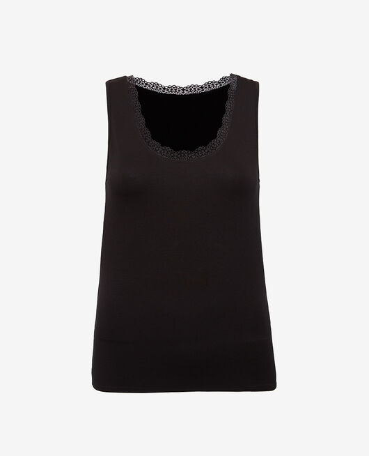 Vest top Black Heattech© extra warm