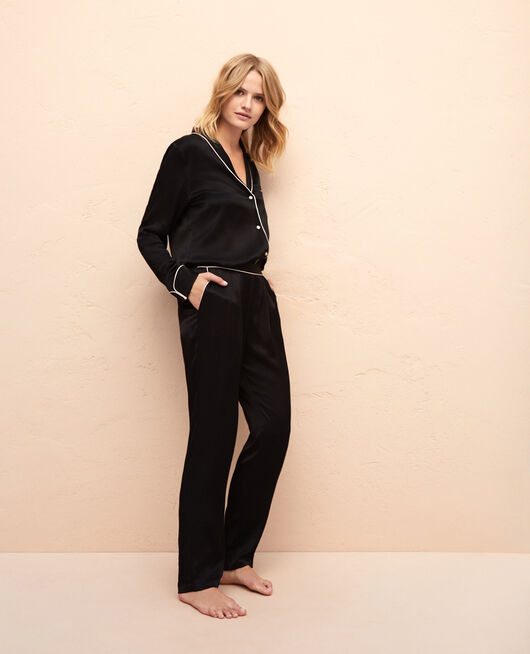 Pyjama trousers Black Subtil