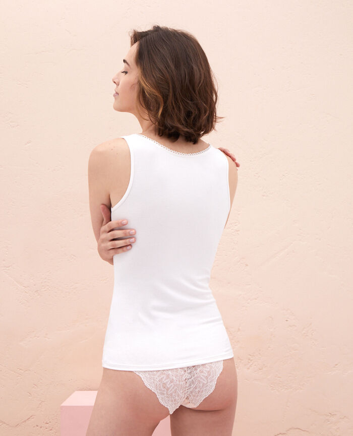 T-shirt sans manches Blanc rosé Innerwear