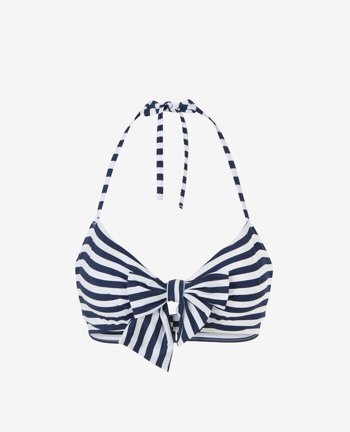 Soutien-gorge de bain bandeau armatures cachées Bleu rayures Voyage voyage